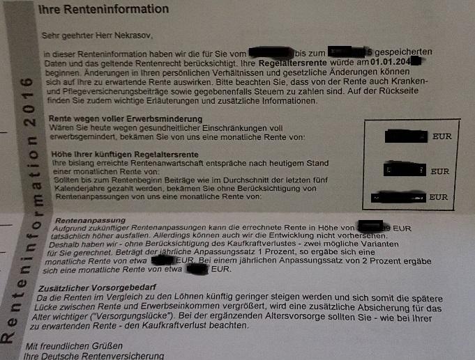 Bescheid von Deutscher Rentenversicherung