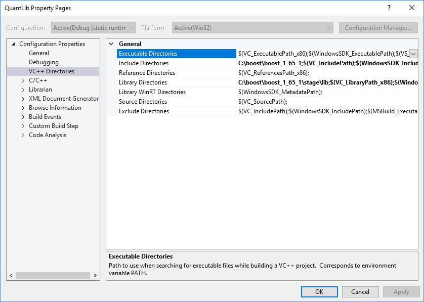 Building QuantLibXL in Visual Studio 2017