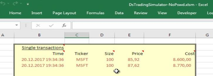 using a stock trading simulator in excel letyourmoneygrow com