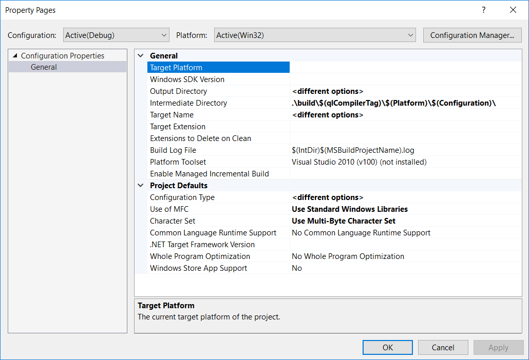 Building QuantLib 1 14 with Visual Studio 2019 preview